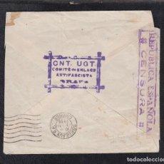 Sellos: 1936.- GRAUS (HUESCA) A BURDEOS (FRANCIA). Lote 115888027