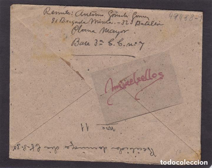 Sellos: CARTA - CENSURA MILITAR DE LA 81 BRIGADA MIXTA . EJÉRCITO DE LA REPÚBLICA . muy rara - Foto 2 - 115927463