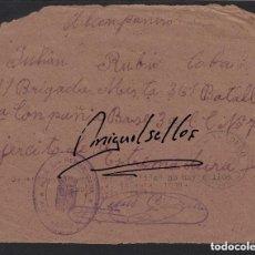 Sellos: 1938 FRANQUICIA AYUNTAMIENTO ALBALADEJO (CIUDAD REAL)- NO HAY SELLOS- 91 BRIGADA MIXTA 361 BATALLON. Lote 116127851