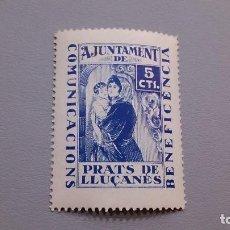 Sellos: VIÑETA - GUERRA CIVIL - COMUNICACIONS - BENEFICENCIA - AJUNTAMENT DE PRATS DE LLUCANES - MNH**.. Lote 116195907
