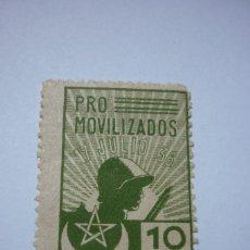 Sellos: PRO MOVILIZADOS MARRUECOS. 10 CÉNTIMOS NUEVO. Lote 116240131