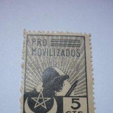Sellos: PRO MOVILIZADOS MARRUECOS. 5 CÉNTIMOS NUEVO. Lote 116240239