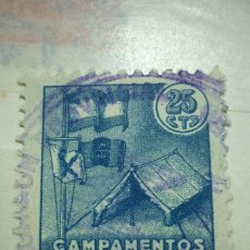 Sellos: CAMPAMENTOS DE VERANO 25 CENTIMOS. Lote 116240547