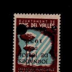 Sellos: G7AI GUERRA CIVIL VIÑETAS DE PINS DEL VALLES (BARCELONA) IMPOSTOS MUNICIPALS FESOFI Nº 7AI TIPO II. Lote 116326735