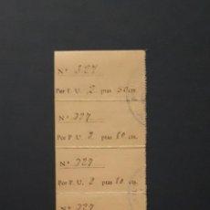 Sellos: AYORA 6 CUOTAS POR PLATO UNICO DE 2,5 PTS. 1940 VALENCIA. Lote 116646035