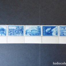 Sellos: VIÑETAS, RARA TIRA DE 10 , 1956,LOYOLA, DE FOURNIER. Lote 116662171