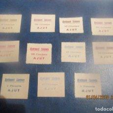 Sellos: SELLOS GUERRA CIVIL: LLAVANERA -1938 -11 UNIDADES. Lote 116869663