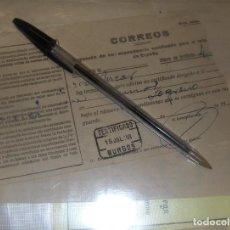 Sellos: CORREOS, RESGUARDO DE CERTIFICADO. BURGOS JULIO 1938 GUERRA CIVIL.. Lote 116890839