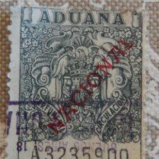 Sellos: ADUANA ESCUDO NACIONAL - PERFUMERIA - CIRCULACION - SOBRECARGA - NACIONAL. Lote 116939403