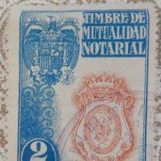 Sellos: TIMBRE DE MUTUALIDAD NOTARIAL 2 PTS. Lote 116940403