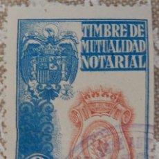 Sellos: TIMBRE DE MUTUALIDAD NOTARIAL 2 PTS. Lote 116940451
