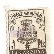 Sellos: TIMBRE MUNICIPAL LA CAROLINA 1PTS. Lote 117070403