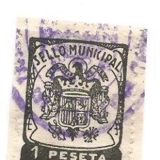 Sellos: SELLO MUNICIPAL. SONSECA. 1 PESETA. Lote 117070735