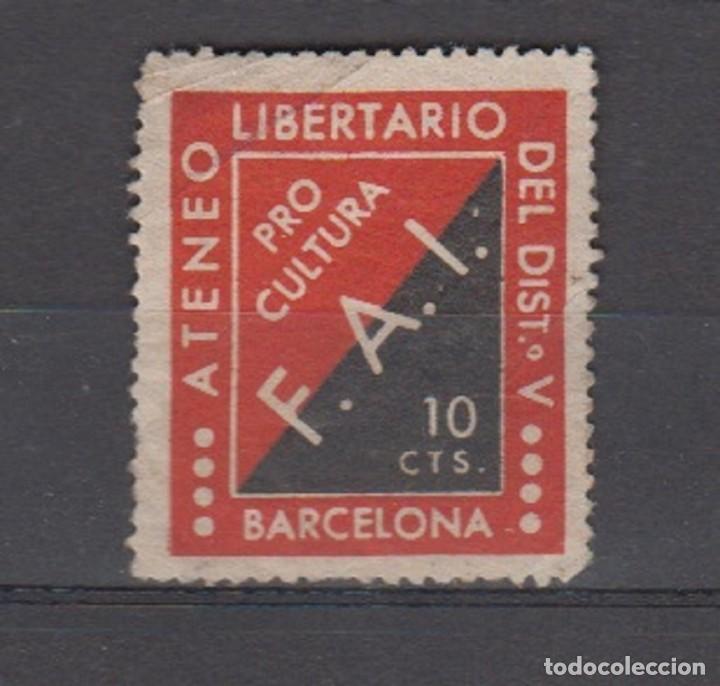 BARCELONA. EDIFIL 64 * ATENEO LIBERTARIO...... (Sellos - España - Guerra Civil - De 1.936 a 1.939 - Nuevos)