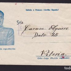 Sellos: CM1-68- CARTA ILUSTRADA FRANCO DE LA 40 DIVISIÓN A VITORIA. CENSURA BON.INFANTERIA 179. Lote 117352711