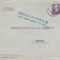 Sellos: CCM-60-CARTA INFIESTO- CÓRDOBA 1938. CENSURA Y LOCAL. Lote 117380951