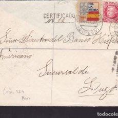 Sellos - CM1-21-Carta PUERTO DE VEGA (Oviedo)-LUGO 1937. Local y Censura NAVIA - 117412511