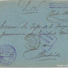 Sellos: CARTA CENSURA MILITAR AVILA FRANQUICIA ALCALDIA GEMUÑO AVILA A MADRID 1939. Lote 118046303