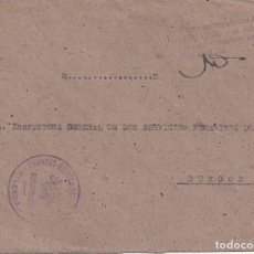 Stamps - CARTA HOSPITAL MILITAR EJÉRCITO VALENCIA DIRECCION A BURGOS FRANQUICIA - 118046475