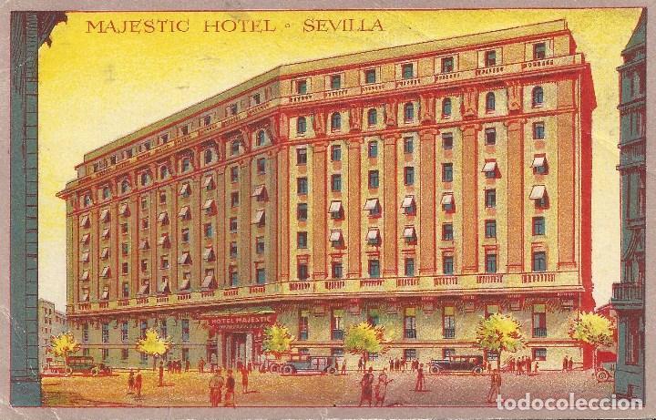 POSTAL HOTEL SEVILLA ITALIA TROPAS VOLUNTARIAS ITALIANAS CTV GUERRA CIVIL 1939 (Sellos - España - Guerra Civil - De 1.936 a 1.939 - Cartas)