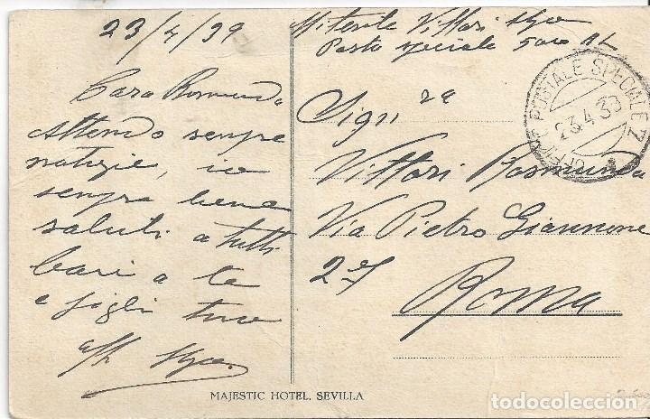 Sellos: POSTAL HOTEL SEVILLA ITALIA TROPAS VOLUNTARIAS ITALIANAS CTV GUERRA CIVIL 1939 - Foto 2 - 118047955