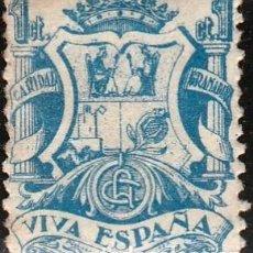 Sellos: GRANADA. VIVA ESPAÑA. SELLO BENEFICENCIA CARIDAD GRANADINA. 1CTS ,CALCADO AL DORSO**,MNH.( 21-181 ). Lote 118336987