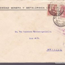 Sellos: CM2-26- CARTA PEÑARROYA-PUEBLONUEVO (CÓRDOBA)-SEVILLA 1937.LOCAL Y CENSURA. . Lote 118383559