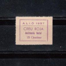 Selos: ALIÓ 1937. CREU ROJA. ASISTENCIA SOCIAL. 15 CTS.. Lote 118481339
