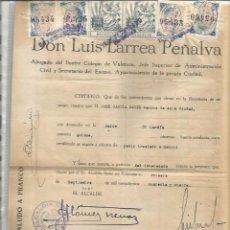 Sellos: IMPUESTO MUNICIPAL VALENCIA DOS PESETAS. Lote 118648895
