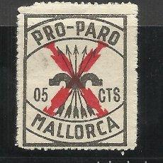 Sellos: MALLORCA 5 CTS PRO PARO NUEVO* NUMERADO AL DORSO. Lote 118831767
