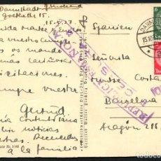 Sellos: GUERRA CIVIL, TARJETA POSTAL, CIRCULADA DESDE ALEMANIA A BARCELONA, 1937. Lote 118854483