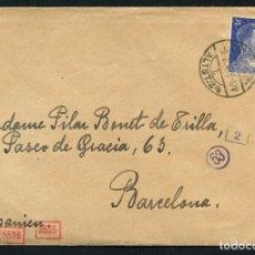 Sellos: GUERRA CIVIL POST, CARTA CIRCULADA DESDE ALEMANIA A BARCELONA, 1943. Lote 118854663