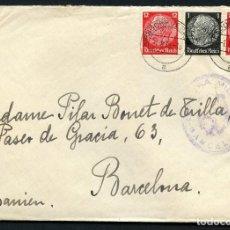 Sellos: GUERRA CIVIL POST, CARTA CIRCULADA DESDE ALEMANIA A BARCELONA, 1939. Lote 118854715