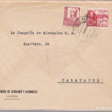 Sellos: CM1-64-GUERRA CIVIL. CARTA LUCENI (ZARAGOZA)-CALATAYUD 1937. CRUZADA FRÍO Y CENSURA ALAGÓN. Lote 119299019