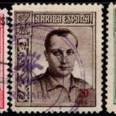 Sellos: 1937.BENEFICENCIA J.A.PRIMO RIVERA.NO EXPEDIDOS.USADOS EDIFIL 14/18NE.. Lote 119306099