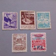 Sellos: ESPAÑA - 1936-37 - LOTE SELLOS GUERRA CIVIL ASTURIAS Y LEON - MOTIVOS DIVERSOS.. Lote 155929304