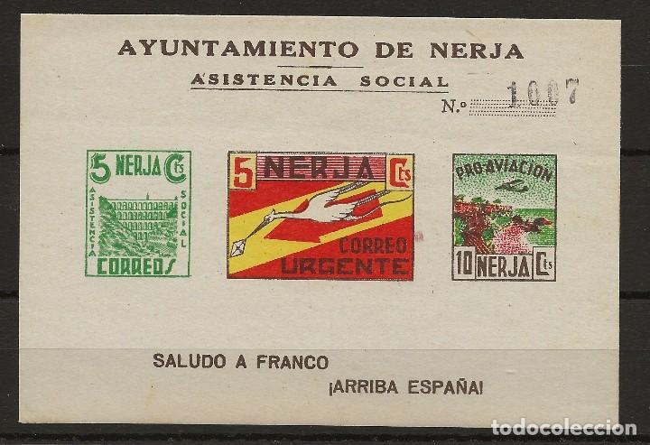 R35/ ESPAÑA HB AYUNTAMIENTO NERJA, MNH** (Sellos - España - Guerra Civil - De 1.936 a 1.939 - Nuevos)