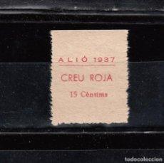 Selos: ALIÓ.- CREU ROJA 1937. 10 CTS.. Lote 119988363