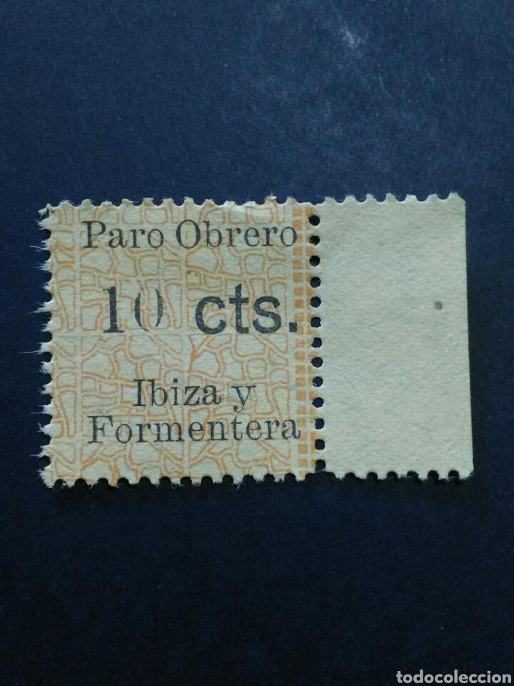 VIÑETA PARO OBRERO IBIZA Y FORMENTERA. 10 CTS. (Sellos - España - Guerra Civil - Viñetas - Nuevos)