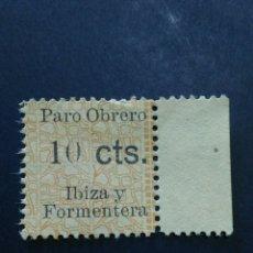 Sellos: VIÑETA PARO OBRERO IBIZA Y FORMENTERA. 10 CTS.. Lote 120041391