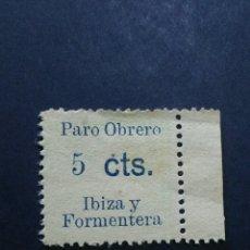 Sellos: VIÑETA PARO OBRERO IBIZA I FORMENTERA. 5 CTS.. Lote 120041507