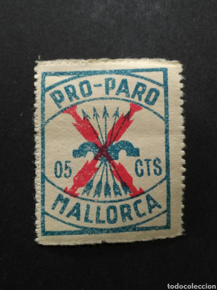VIÑETA PRO PARO. MALLORCA. 5 CTS. (Sellos - España - Guerra Civil - Viñetas - Nuevos)
