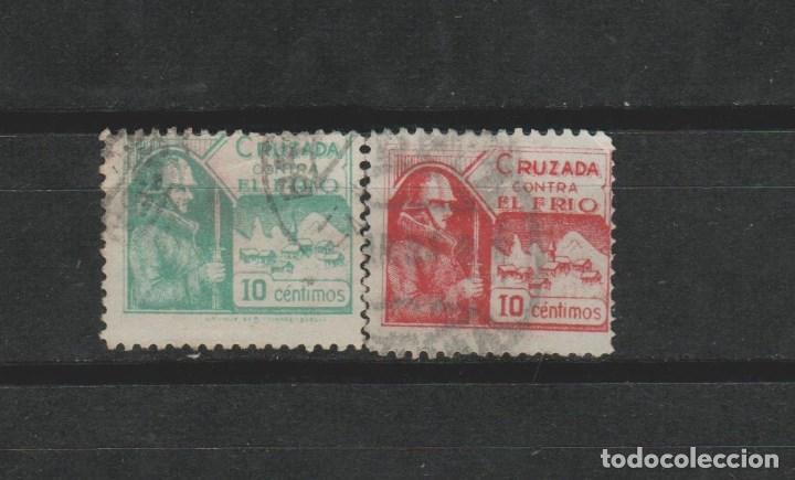 LOTE Ñ SELLOS VIÑETAS CRUZADA CONTRA EL FRIO GUERRA CIVIL (Sellos - España - Guerra Civil - Viñetas - Usados)