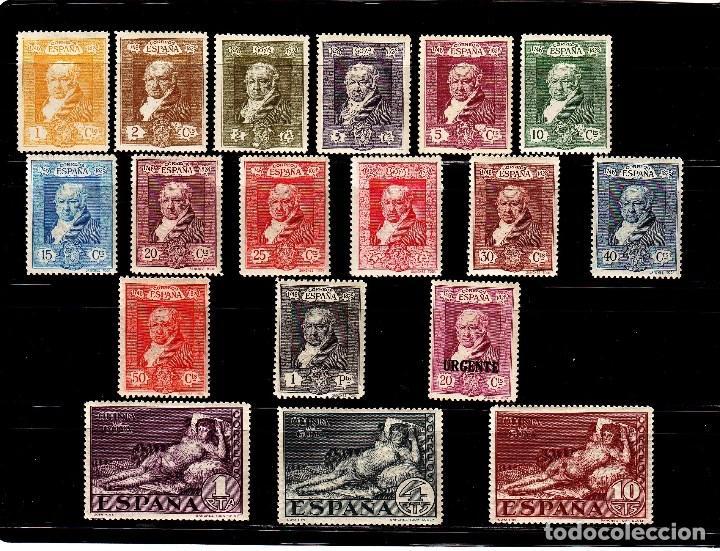 AÑO 1930. EDIFIL 499/516*MH GOYA EXPOSICION SEVILLA VC 65 EUROS (Sellos - España - Guerra Civil - De 1.936 a 1.939 - Nuevos)
