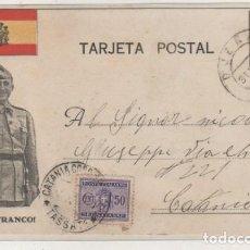 Sellos: TARJETA POSTAL FRANCO GUERRA CIVIL CIRCULADA CON SELLO ITALIANO ITALIA MARZO 1937 . Lote 120426711