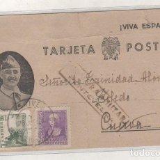 Sellos: TARJETA POSTAL FRANCO GUERRA CIVIL CENSURA MILITAR PONTEVEDRA. . Lote 120428507
