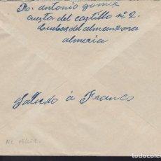 Sellos: CM3-6-GUERRA CIVIL CARTA CUEVAS DEL ALMANZORA (ALMERÍA)-ALBACETE 1939. CENSURA NO CATª. Lote 120432371