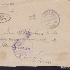 Sellos: CM3-6-CARTA ARZOBISPADO TOLEDO. COMISARÍA GENERAL DE CRUZADA. FRANQUICIA 1922. Lote 120432675