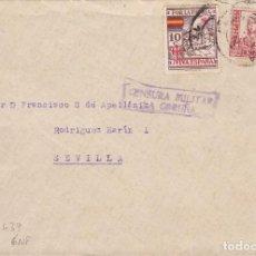Sellos: CM3-7-GUERRA CIVIL. CARTA CORUÑA- SEVILLA 1937. LOCAL Y CENSURA . Lote 120433031