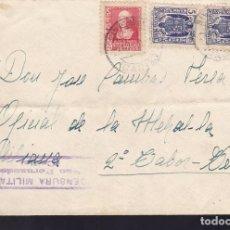 Sellos: CM3-9-GUERRA CIVIL. CARTA SAN FERNANDO. TETUAN 2º TABOR 1939. CENSURA, LOCAL Y FISCALES. Lote 120433911